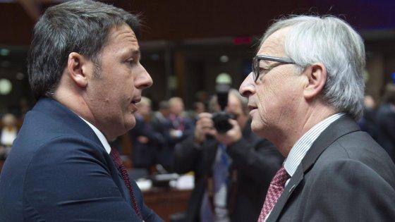 """Juncker: """"Renzi, continue offese a Commissione"""". Replica il premier: """"Non ci faremo intimidire"""""""