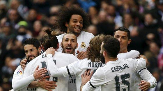 Spagna: Real, un'altra manita. Ma Atletico e Barcellona non perdono colpi