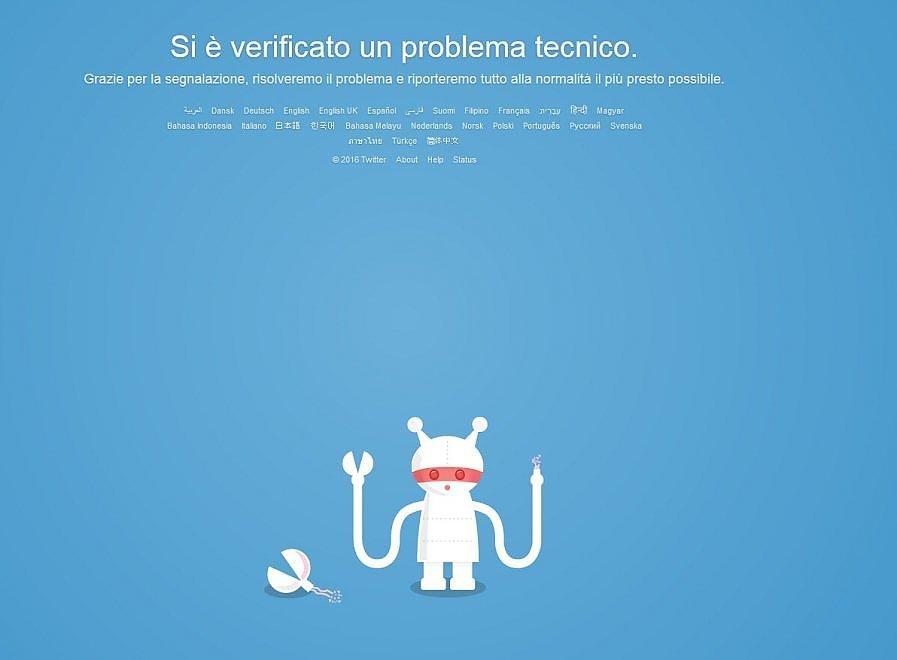 """Twitter down per quasi due ore: """"Errore tecnico"""". E il titolo crolla in borsa"""