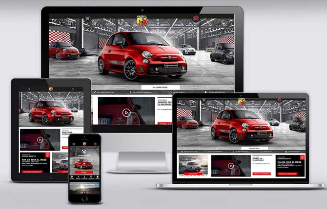 L'Abarth corre on line