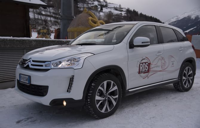 Citroen C4 Aircross in tour sulle piste da sci