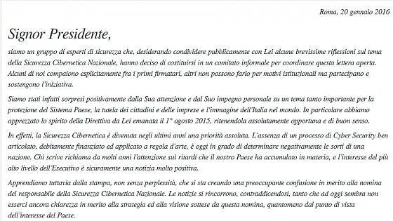 Cybersicurezza, esperti italiani contro la nomina Carrai