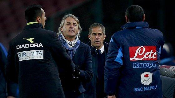"""Mancini furioso: """"Non perdono Sarri, ha offeso migliaia di persone"""""""