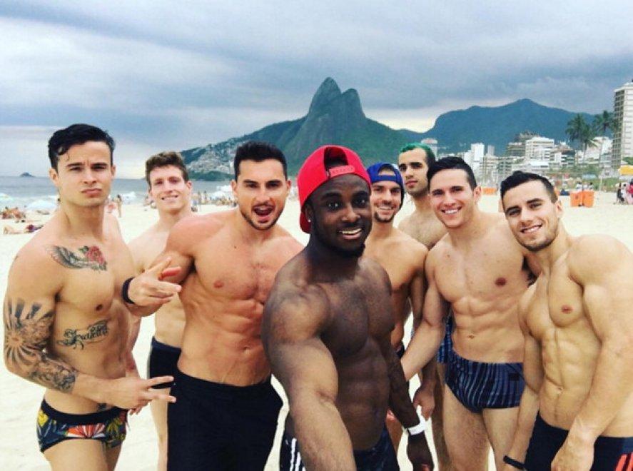 Rio 2016, l'allenamento dei ginnasti Usa è social