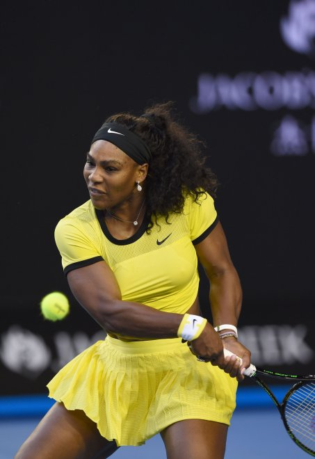 Serena Williams agli Australian Open: la signora del tennis è in giallo