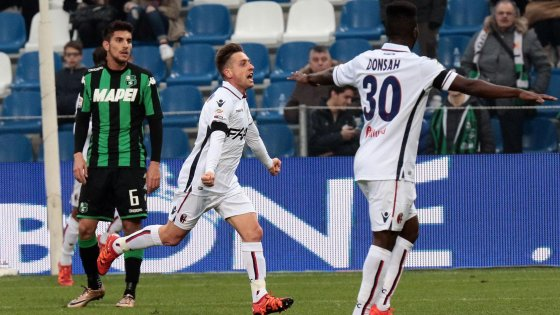 Sassuolo-Bologna 0-2, cade il fortino neroverde