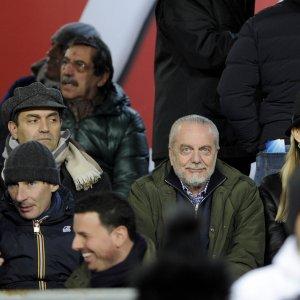 """Napoli, De Laurentiis non fa tabelle: """"E' presto per parlare di duello con la Juve"""""""