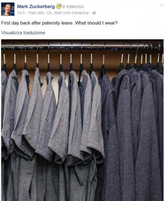 Le due sfumature di grigio di Mark Zuckerberg