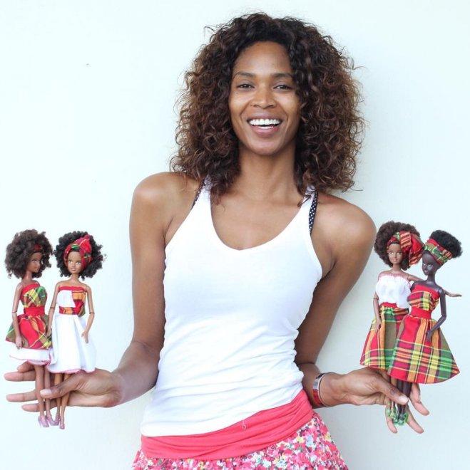 Malaville, le barbie afro-caraibiche create dalla modella nera