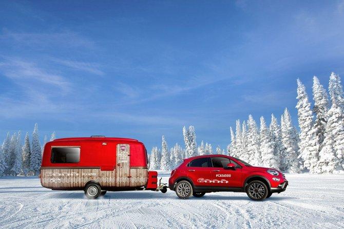 Sorpresa, la 500 diventa una casetta, al via il tour sulla neve