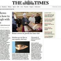 Roma, statue 'nude' coperte da pannelli per visita Rouhani: le pagine dei giornali internazionali