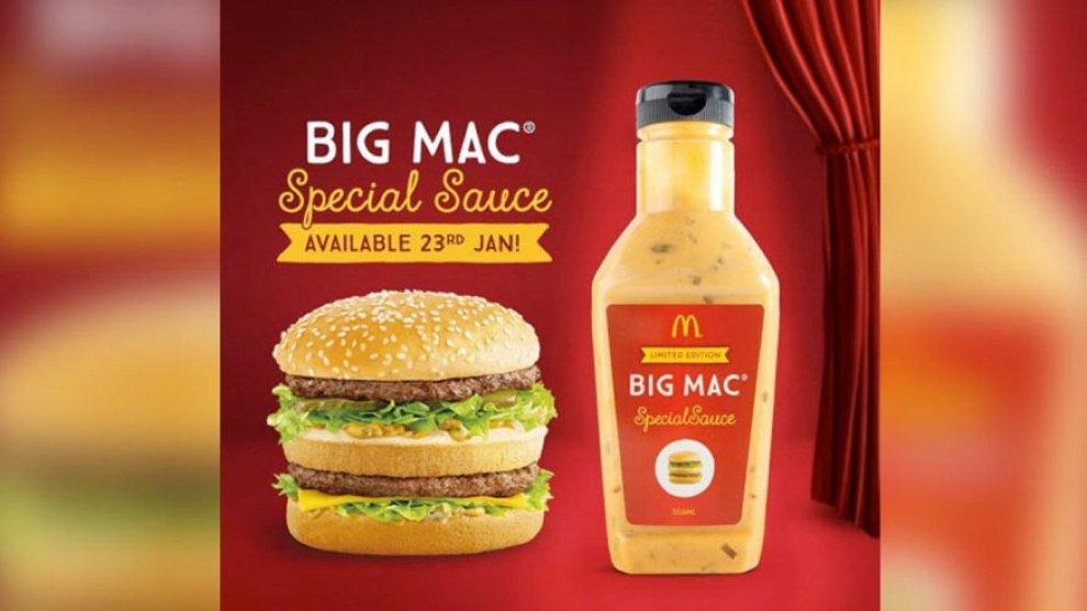 Australia, a ruba la salsa speciale Big Mac: quasi 100 dollari a bottiglietta sul web