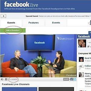 Facebook, dirette video aperte a tutti