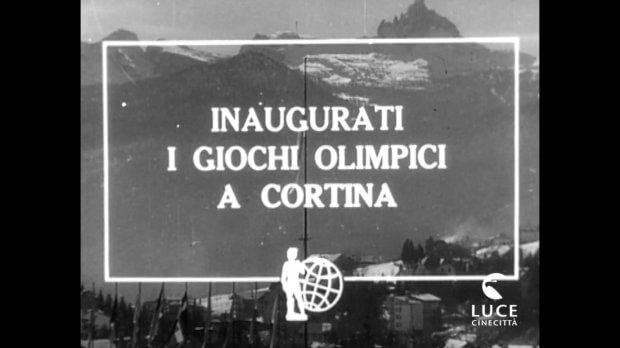 Inaugurazione dei giochi olimpici di Cortina D'Ampezzo