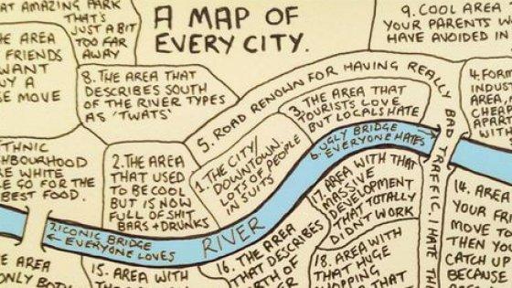 La mappa universale: questa cartina è valida per qualsiasi città