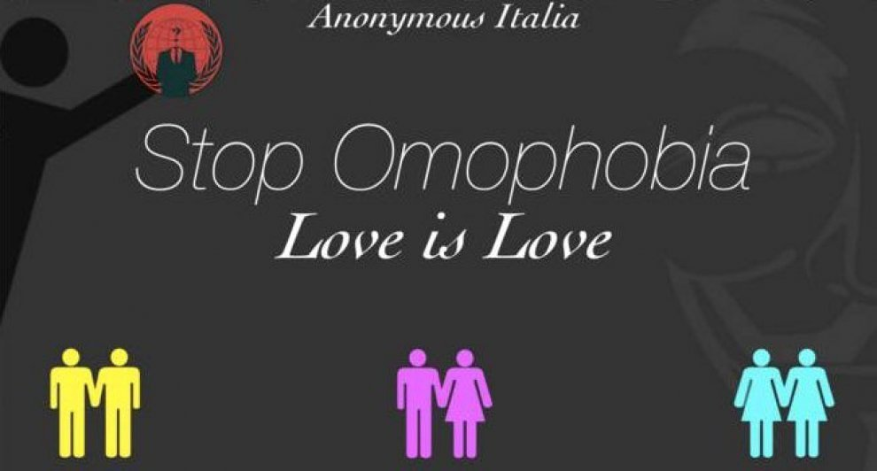 """Love is Love"": Anonymous attacca il sito del Family Day"