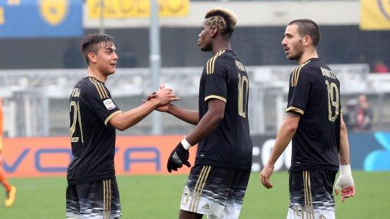 Chievo-Juventus 0-4: dodicesima vittoria di fila, bianconeri inarrestabili
