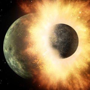 """Un """"frontale"""" planetario: così è nata la Luna, 4,5 miliardi di anni fa"""