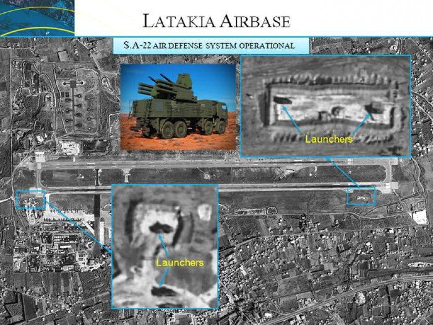 Siria, a Latakia decine di aerei e missili russi. Le foto satellitari