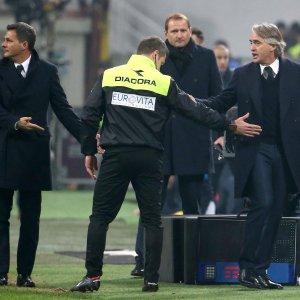 Inter, offese agli arbitri e gestaccio: Mancini squalificato un turno