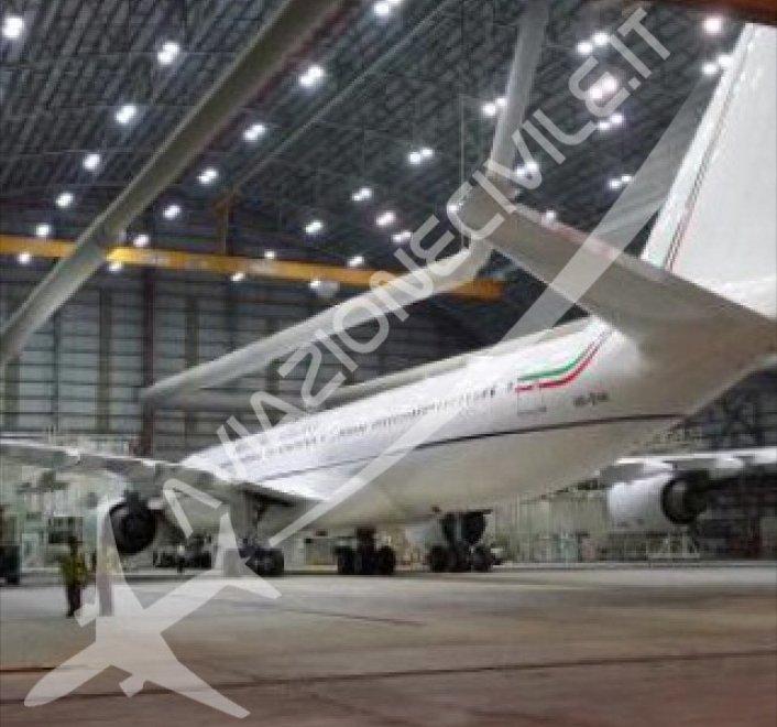 Governo, arrivato a Fiumicino il nuovo Airbus di Renzi