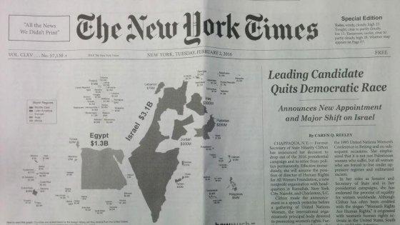 Usa, distribuita una finta edizione del New York Times per criticare l'informazione su Israele e Palestina