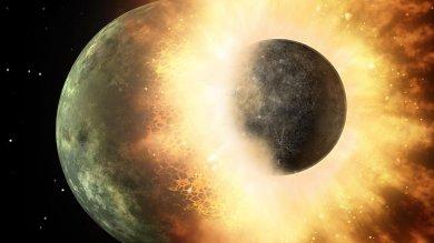 Spazio, un 'frontale' planetario ecco come è nata la nostra Luna