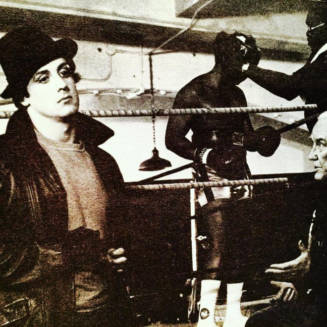 Il primo Rocky in bianco e nero: Stallone pubblica le foto del backstage su Instagram