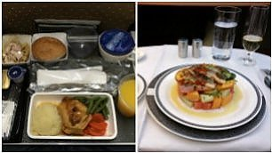 Stesso volo: Economy o Business come cambia il pasto a bordo