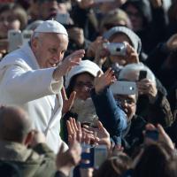 Papa Francesco tra i devoti di Padre Pio