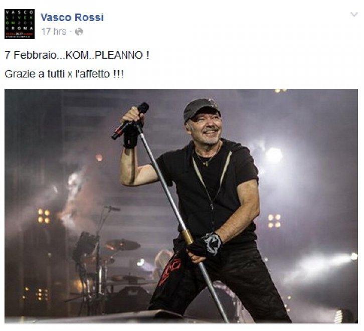 Il compleanno social di Vasco: il rocker compie 64 anni