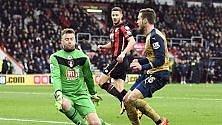 L' Arsenal aggancia  il Tottenham al 2°posto