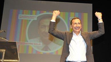 """Milano, Sala sarà candidato centrosinistra    """"Oggi ha vinto Milano""""   video   -   foto"""