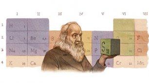 Google, omaggio a Mendeleev padre della tavola degli elementi