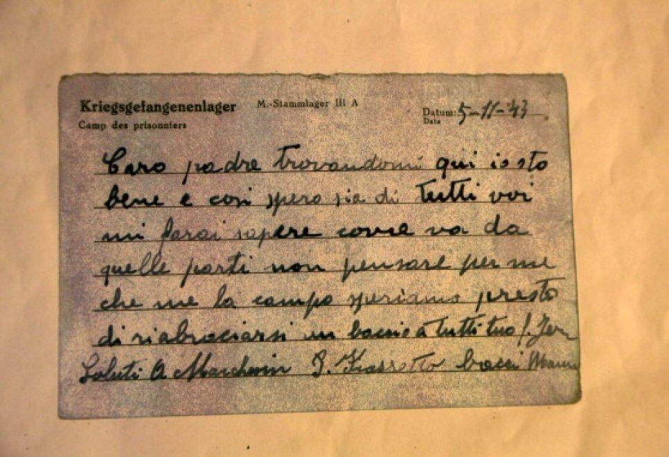 Cartoline dal passato: la lettera dal campo di concentramento arriva dopo 72 anni