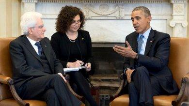 """Mattarella alla Casa Bianca   foto   -   video     Obama: """"Grazie per aiuto a Mosul"""""""