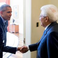 Mattarella alla Casa Bianca: l'incontro con Barack Obama