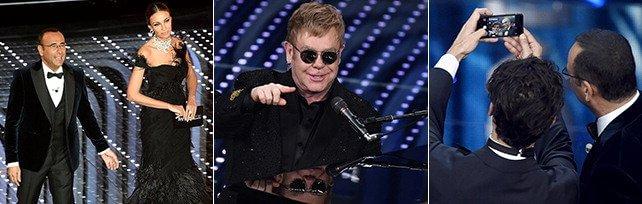 Sanremo: star e nastri arcobaleno   fotoracconto   Sul palco Elton John   foto   -  Gli ospiti  -       Liveblog