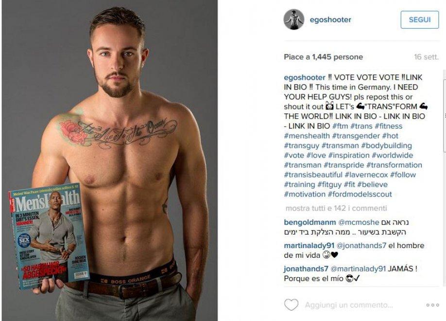 """Germania, """"Men's Health"""" : in copertina debutta il modello transgender"""