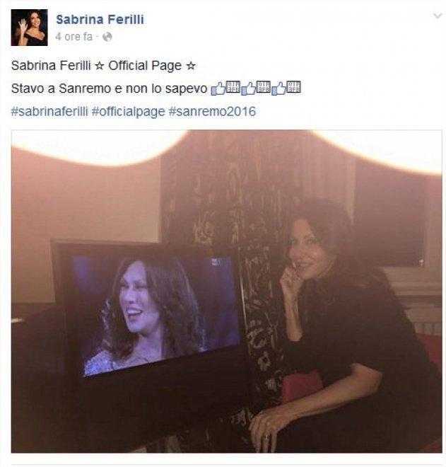 Sanremo 2016, Raffaele show: e la Ferilli risponde su Facebook