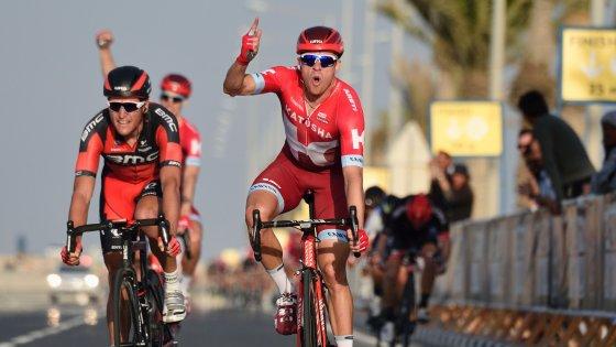 Ciclismo, Giro del Qatar:  Kristoff concede il bis, Cavendish torna leader
