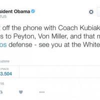 Nfl, Obama, pronostico sbagliato e telefonata di complimenti ai campioni