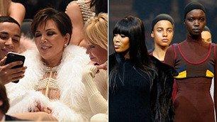 Naomi alla corte di re Kanye e la sfilata diventa un party
