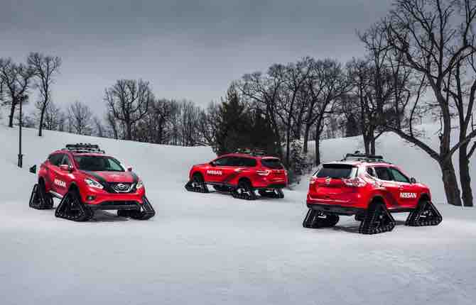 Nissan Winter Warriors, altro che 4x4