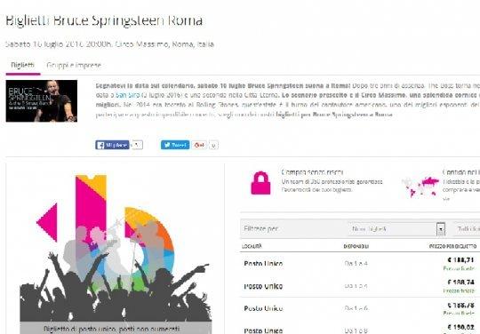 Springsteen al Circo Massimo, il bagarinaggio online è scattato prima della vendita ufficiale