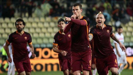 Carpi-Roma 1-3: Dzeko si sveglia, giallorossi al terzo posto