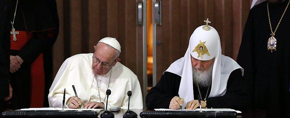 Papa Francesco e patriarca Kirill, il testo della dichiarazione congiunta