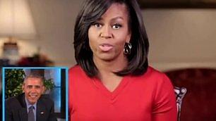 """Obama, scambio di auguri in tv """"Ti amo e ti vizierò come si deve"""""""
