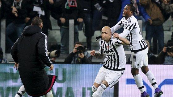 Juventus-Napoli 1-0: Zaza segna il gol sorpasso, bianconeri in testa