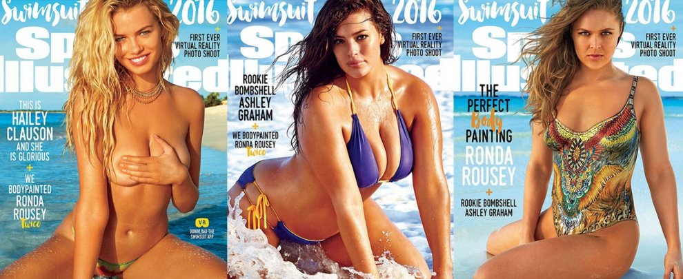 Ronda, Ashley, Hailey, tre copertine per lo speciale costumi di Sports Illustrated